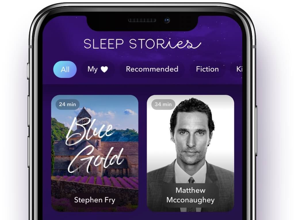 iPhone with Sleep Stories